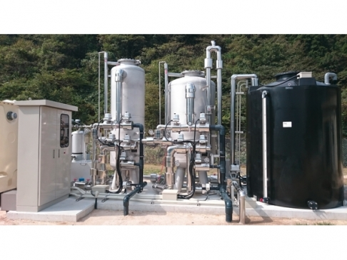 Turbidity decrease and chemical injection suitability for filter (vessel) [ProMix system]