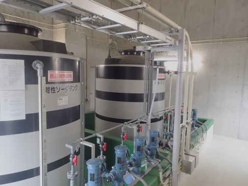 Chemical injection equipment for waterworks