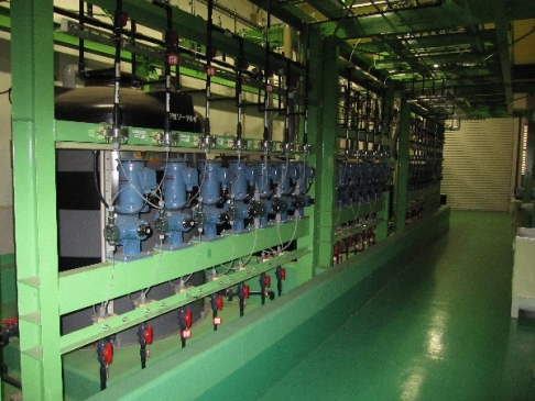 Chemical injection equipment for water treatment in an incineration plant