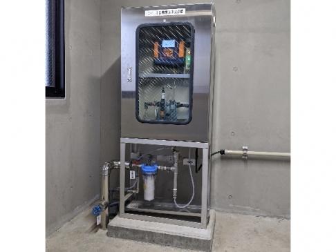 [Measuring instruments for chlorine control of reservoir]